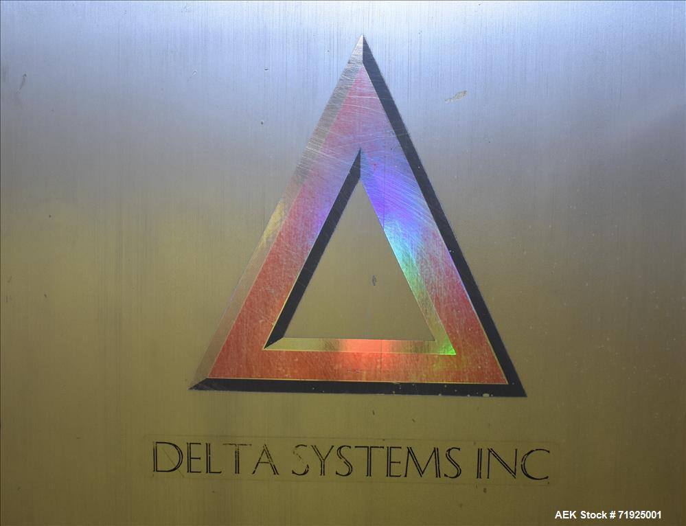 Used- Delta Systems S/S Flo Wrapper with Koyo Direct Logic 205 PLC Controls