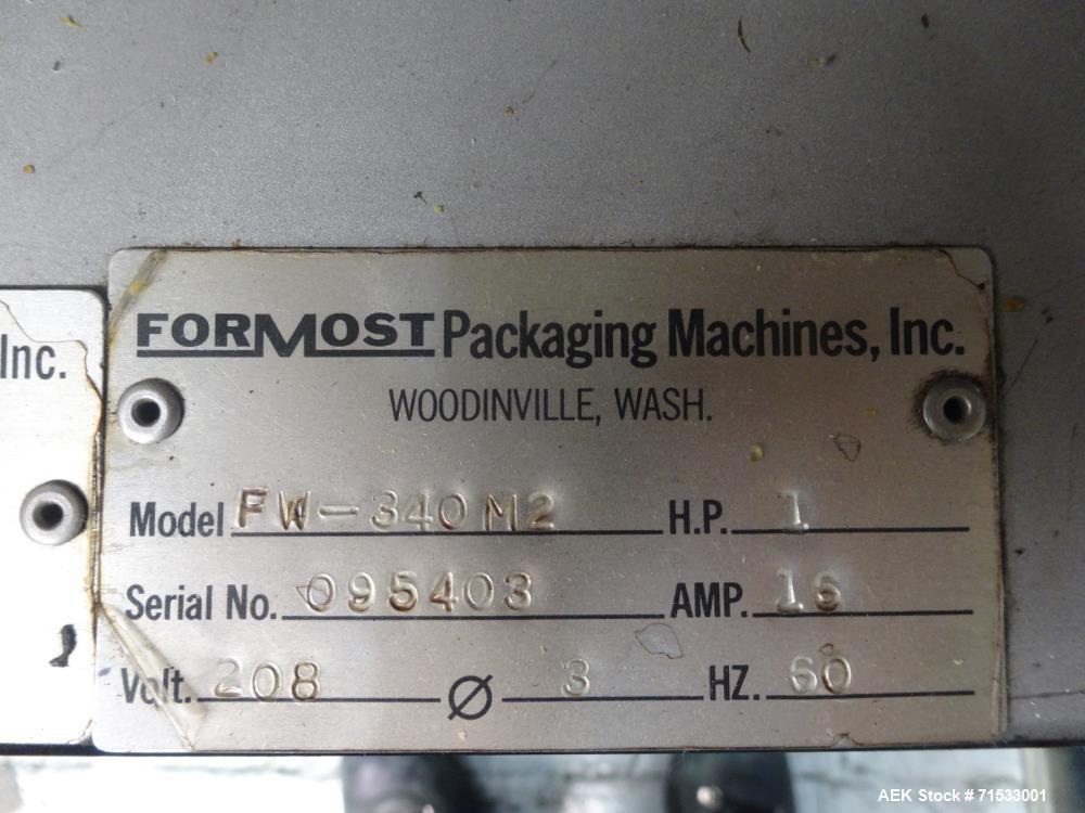 Used- Fuji Formost Machinery Model FW-340M2 Horiz