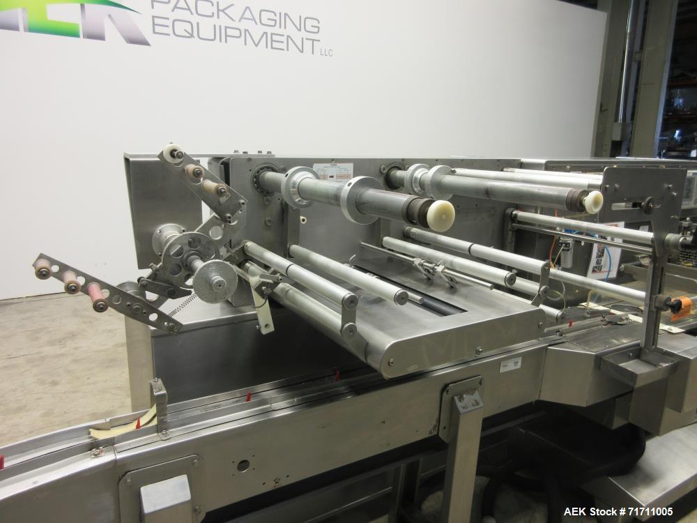Used- Record Model Jaguar On-Edge Horizontal Cracker/Cookie Flow Wrapper