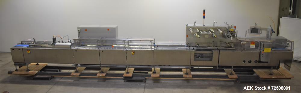 Used-Sig (Syntegon/Bosch) Model HSM high speed horizontal wrapper. Capable of speeds over 600 bars per minute. Has film regi...