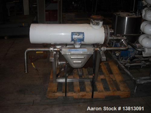 Used-APV Crepaco Pasteurizer.Includes an APV plate and frame heat exchanger, model SR15-S, work order #27854. Allen Bradley ...
