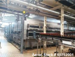 Used- Landaluce Tunnel Pasteurizer, Model 2T75 C/6. Capacity up to 80,000 BPH; (2) Decks; (8) Zones; 20.8m Long x 6m Wide; C...