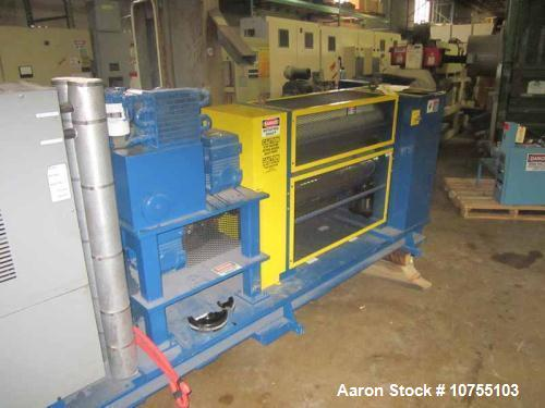 "Used-BF Perkins Two Roll Vertical Closed Frame Embosser, 36"" face x 12"" diameter steel induction hardened rolls, one mirror ..."