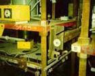 USED: Hot melt stamping press, downacting, 4 post type. 2
