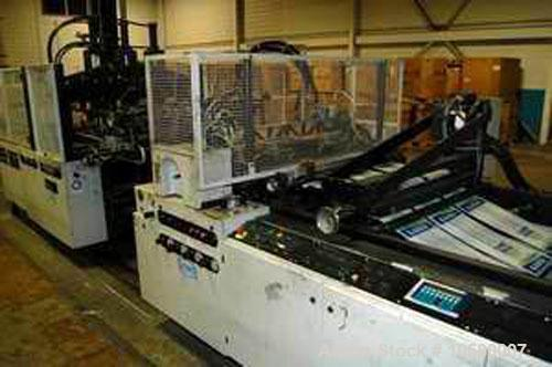 Used-1100mm Lemo IS 1100 3HT/LT Poly Bag Machine. Mfg 2005. Hydraulic unwind stand, slitting station, post gusseter with sta...
