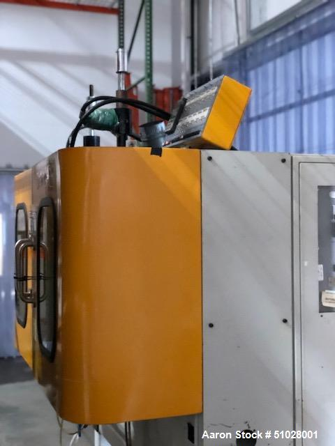 Used- Akei Model Smart Boy SB-40-TS-DH-PVC Continuous Extrusion Blow Molder