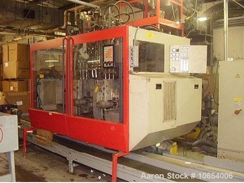 Used-Fischer Continuous Extrusion Blow Molding Machine, Model BFB1-4D.  Triple 100 head, Parison programming, 80 mm, 24:1 ex...