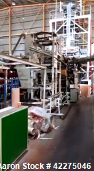 Used Macchi Plastex 3 Layer Blown Film Extrusion Line