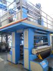 Used- Ghioldi Blown Film Co-Extrusion Line. Including: N. 2 extruders diameter mm.55, 78 kW 30 L/D N. 1 extruder diameter 75...