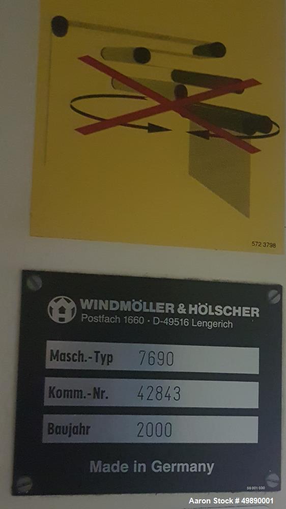 "Used- Windmoller & Holscher 80"" 7 Layer Line, Model 2200MM."