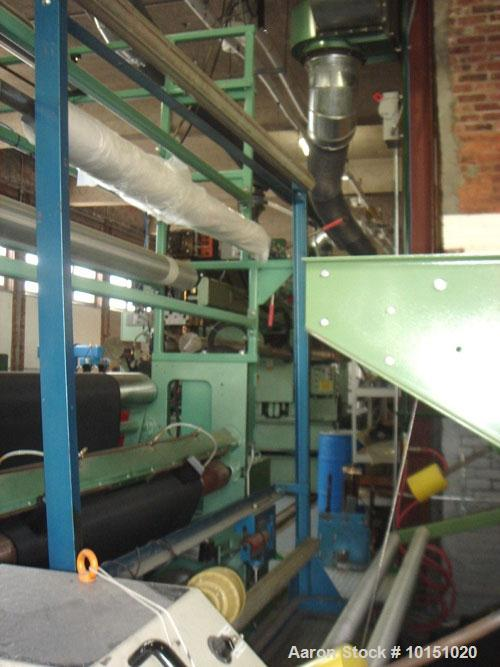 "Used-Davis Standard Extrusion Coating Package designed to make 40"" to 85"" finished web width. Line rated at 400 feet per min..."