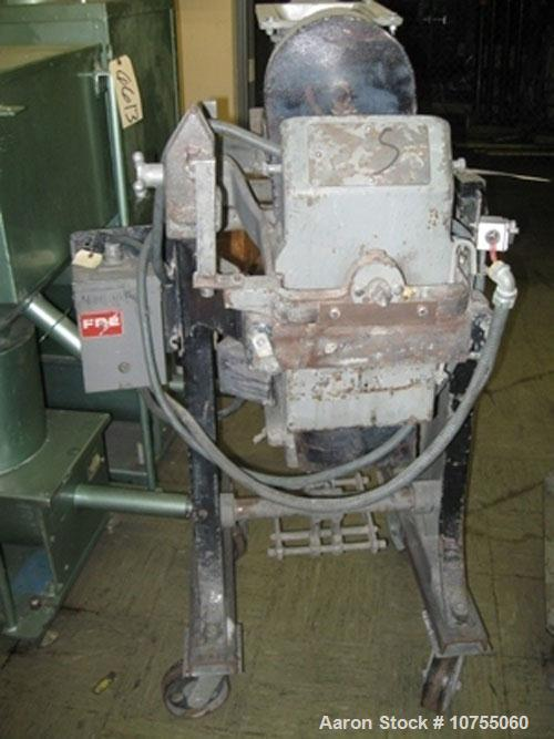 Used- LAB Gelimat, high shear, flush mounted, jacketed body, 25 hp 230/460 volt motor driven by a Yasakawa model E7 vari-spe...