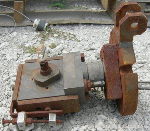 """Used-  Cross Head Die Block, last used on a 1-1/2"""" extruder."""