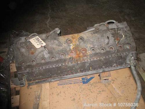 "Used-EDI 34"" Ultraflex H40 Sheet Die.  .001-.040 lip opening, 240 volt, 350 watt heaters, 1.25"" diameter rear material entry..."