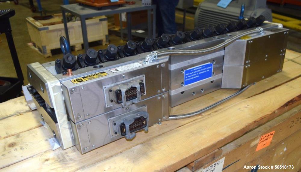 "Used- EDI Extrusion Dies Fully Refurbished 41"" Wide Ultraflex Flex Lip Sheet Die, Model R-75. Slotted back center feed. Seri..."
