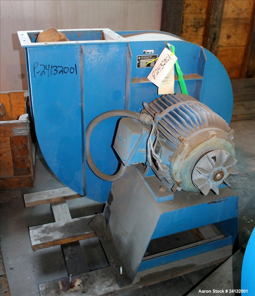 Used- Buss-Condux Hot Face Pelletizing Unit. Includes (1) Safeline metal detector, (1) 20 HP ventilator/blower, (1) 22 KW (3...