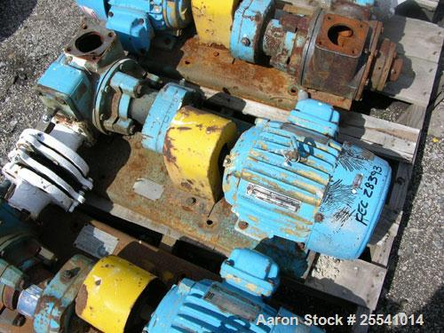 """Used- One (1) Blackmer gear pump, model GSX2 1/24, carbon steel construction, 2.5"""" inlet/outlet, rated up to 155 GPM, on bas..."""