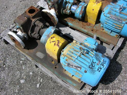 """Used-One (1) Blackmer gear pump, model GSX2 1/24, carbon steel construction, 2.5"""" inlet/outlet, rated up to 155 GPM, on base..."""