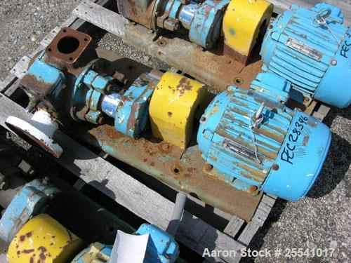 """Used-One (1) used Blackmer gear pump, model GSX2 1/24, carbon steel construction, 2.5"""" inlet/outlet, rated up to 155 GPM, on..."""