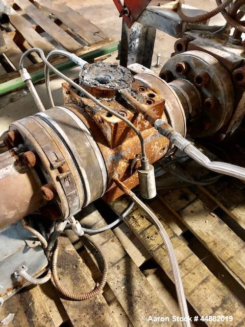 """Used-15 HP gear pump, model LS56/56.  Previously used on 4.5"""" Davis Standard extruder."""