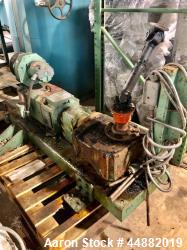 """15 HP gear pump, model LS56/56.  Previously used on 4.5"""" Davis Standard extruder."""