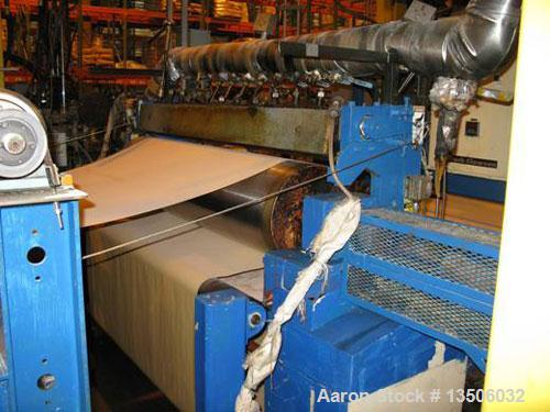 """Used-Black Clawson Knife Over Roll Coater, 66"""" wide, model 311. Unit is comprised of a payoff frame, hot oil heated applicat..."""