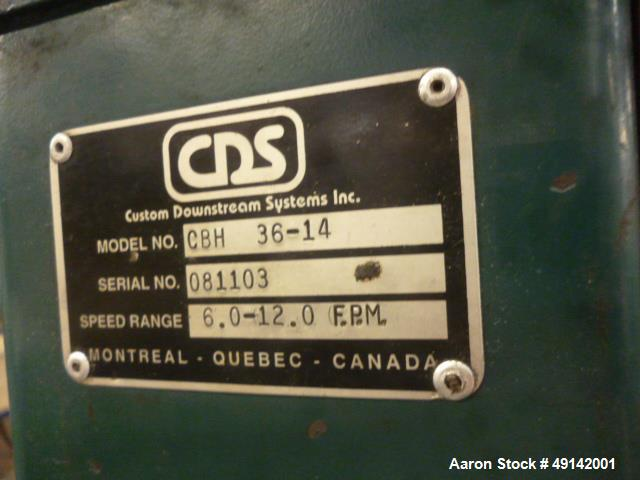 Used- Customs Downstream Systems Belt Puller, Model CBH 36-14.