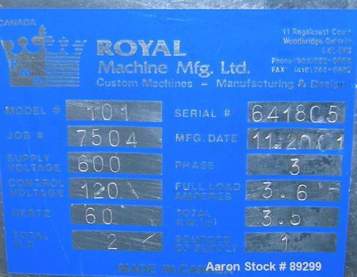 USED: Royal Machine traveling cut off chop saw, m