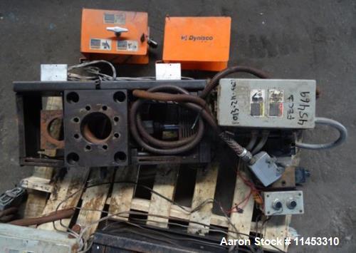 "Used- 3.5"" Dynisco Hydraulic Slide Plate Screen Changer, Model EH35. Dual break plate less breaker plates with 2 hp hydrauli..."
