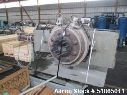 """Used- 12"""" Beringer Slide Plate Screen Changer, Model 1200. Includes an upstream adapter for a 160mm twin screw extruder, a 1..."""