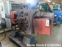 """Used- MGB Model SC12 Slide Plate Screen Changer. (2) Nominal 12"""" diameter breaker plates. Unit is mounted on a  stand with c..."""