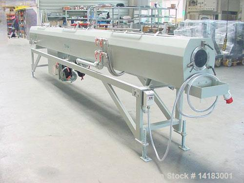 """Used-Kuag SB 110/6 Spray Bath, 236"""" (6000 mm) long, handles pipes of 0.78"""" - 4.33"""" (20 - 110 mm) diameter.  With central pip..."""