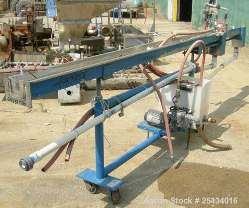 "Used-Merrit Davis Waterbath, 304 Stainless Steel.5 1/2"" wide x 156"" long x 3 7/8"" deep.Includes an approximate 3/4 hp pump a..."