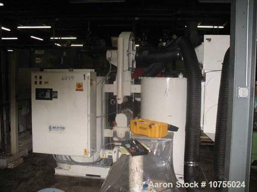 Used-Unadyn Model DHD-25 Dryer and Hopper. SO #204362, 460/3/60 operation, 125.6 maximum field amps, 99.9 kva maximum connec...