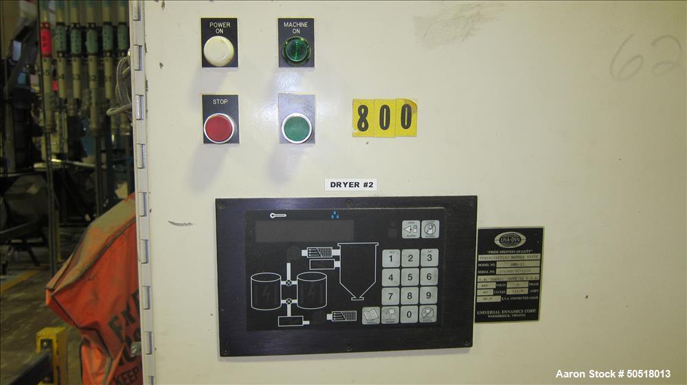 Used-Una-Dyn Dehumidifying Hopper Dryer, Model DHD-25, SN 204362.01-1200, 460 Volt, 3 Phase, 60 Hz., 125.6 Amps.