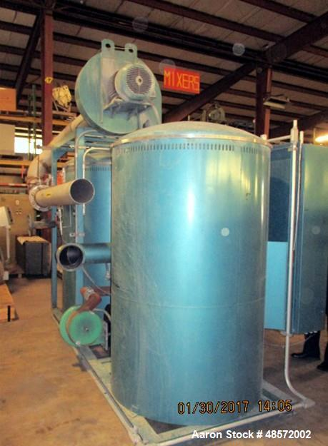 Used- Una-Dyn Solid Bed Desiccant Dryer, Model DHD-60SB. 1800 Process Air Flow CFM. Approximate temperature rating 180 - 250...