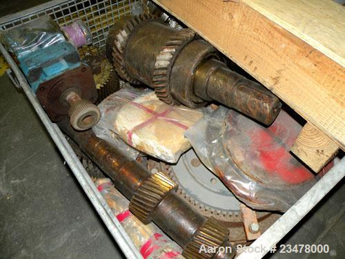 Used- Werner Pfleiderer ZSK120 Twin Screw Extruder Gearbox Gear Parts.