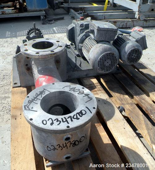 Used- Werner & Pfleiderer ZSK120 Twin Screw Extruder Dosing Feeder, 304 Stainless Steel. Approximately 18'' long screw. 4-1/...