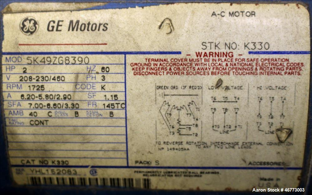 Used- General Electric 400HP DC Motor  3/500 volt