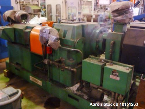 "Used- 4.50"" Brampton 30/1 L/D Extruder. Has 38"" center line height. Driven by a 250 hp DC motor with Reliance SCR control. N..."