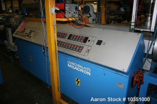"Used-Cincinnati Milacron CMS 120-28 GR Single Screw Extruder. Screw diameter 4.7"" (120 mm), 28 L/D, 661 lbs/hour (300 kg/h) ..."