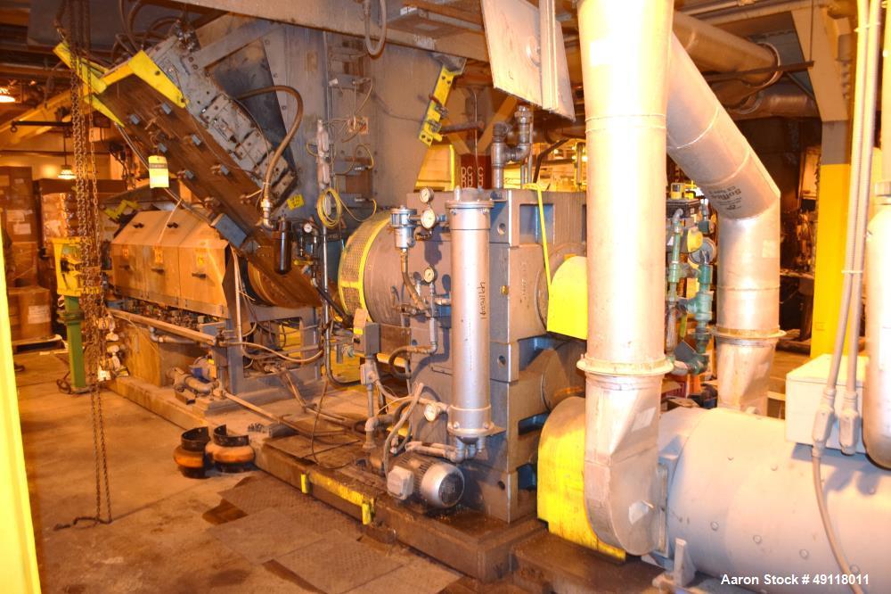 "Used- Crown / CDL Technology 12"" Single Screw Dump Extruder, Model RPU2E400"