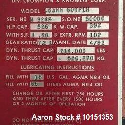 "Used- 6"" Davis Standard 40:1 L/D Non-Vented Extruder"