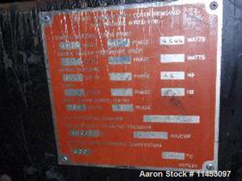 "Used-Davis Standard Thermatic Extruder, model 25IN25. 2.5"" diameter screw, 30:1 L/D, 6 heating zones, 50 hp motor, 17.2:1 ge..."