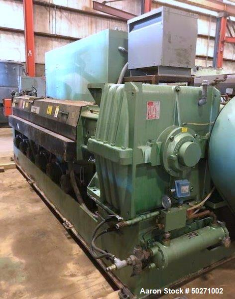 "Used- Davis Standard 4.5"" Single Screw Extruder, Model 45IN45H. 30/1 L/D Ratio, vented barrel, 42"" centerline height. Driven..."