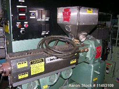 """Used-1.25"""" Davis Standard Extruder, model DS-12-HM. 24:1 L/D, electrically heated, air cooled, vented and plugged, jacketed ..."""