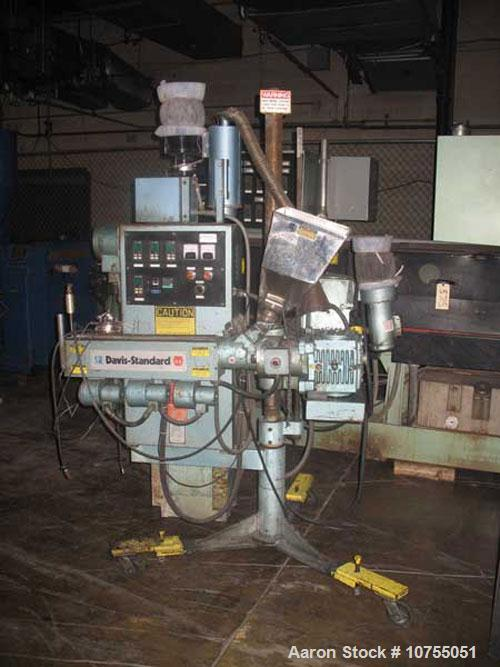 Used-Davis Standard Model SD125 Co-Extruder. 24:1 L/D air cooled, non-vented, barrel; 3 barrel zones and 1 adapter zone; HES...