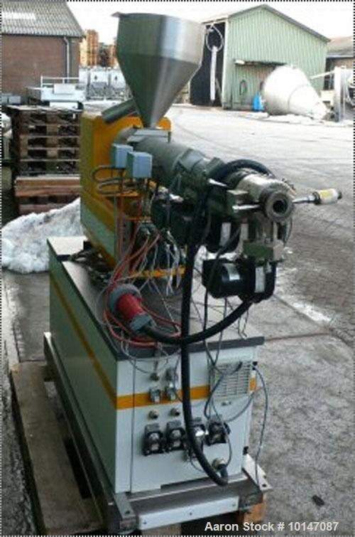 "Used-Dr. Collin GmbH Lab Size Single Screw Extruder, Type 30x25D.  1.17"" (30 mm) diameter, 25:1 L/D + 5D, (3) heating zones,..."