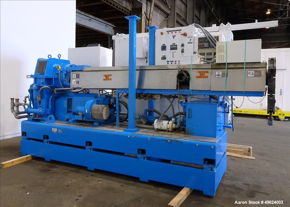 "Used- HPM 4.5"" Single Screw Extruder, Model 4.5-TM-III-30:1"