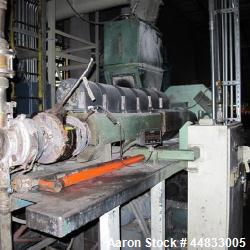 """Used- Approximately 3"""" Diameter Hydreclaim Side Fed Film Reprocessing Extruder"""